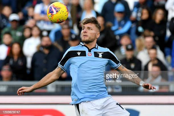 Ciro Immobile of SS Lazio in action during the Serie A match between SS Lazio and SPAL at Stadio Olimpico on February 02 2020 in Rome Italy
