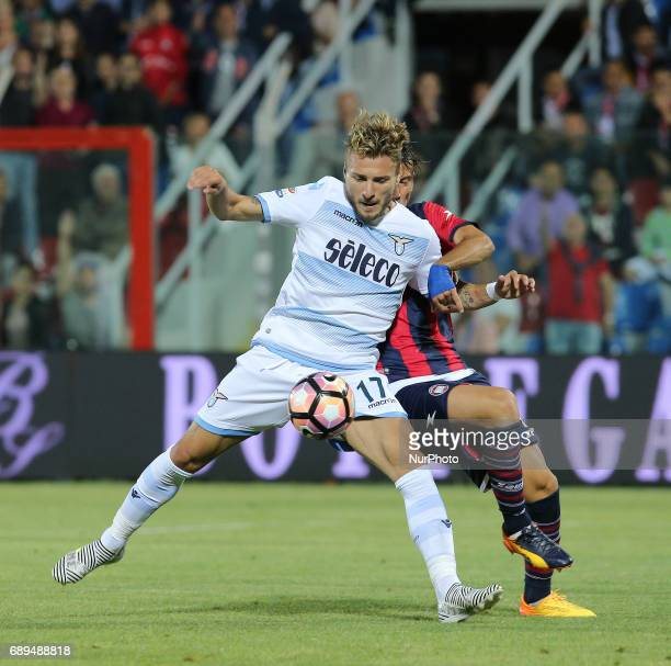 Ciro Immobile of SS Lazio in action during the Serie A match between FC Crotone and SS Lazio at Stadio Comunale Ezio Scida on May 28 2017 in Crotone...