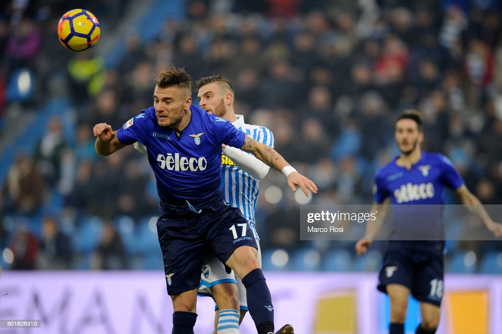Ciro Immobile of SS Lazio in action during the serie A match between Spal and SS Lazio at Stadio Paolo Mazza on January 6, 2018 in Ferrara, Italy.