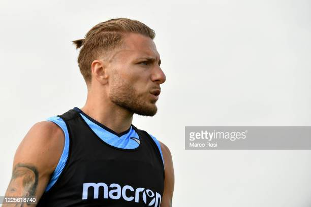 Ciro Immobile SS Lazio during the SS Lazio training session at the Formello center on May 18, 2020 in Rome, Italy.