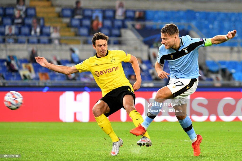 SS Lazio v Borussia Dortmund: Group F - UEFA Champions League : News Photo