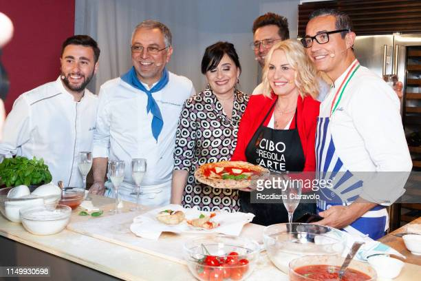Ciro Oliva Enzo Coccio Angela Frenda Renato Bosco antonella Clerici and Gino Sorbillo attend the Cibo A Regola D'Arte 2019 at Fabbrica del Vapore on...
