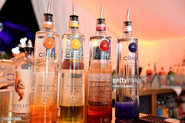 Ciroc vodka on display at the 28th Annual Elton John AIDS Foundation Academy Awards Viewing Party sponsored by IMDb Neuro Drinks and Walmart on...