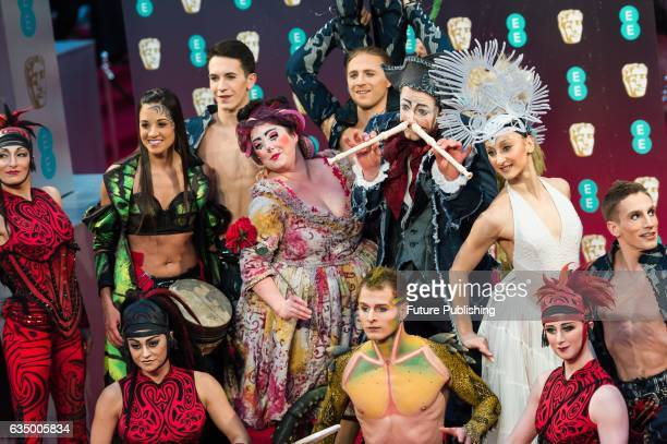 Cirque du Solei performs at the 70th British Academy Film Awards at the Royal Albert Hall on February 12 2017 in London England PHOTOGRAPH BY Wiktor...