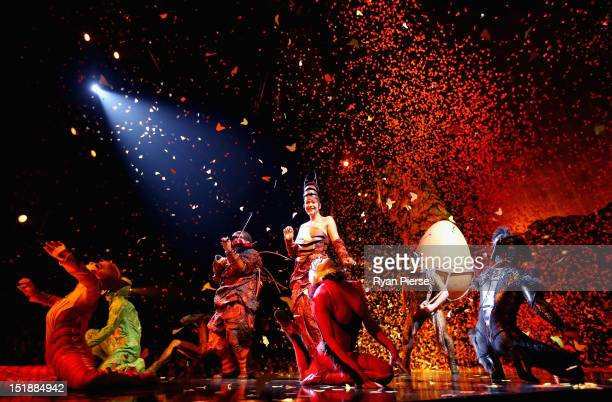 Cirque Du Soleil cast members perform during the dress rehearsal of Ovo at the Entertainment Quarter on September 12, 2012 in Sydney, Australia.
