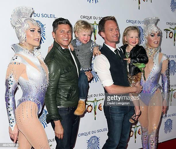 Cirque Du Soleil performer chef David Burtka son Gideon Scott partner actor Neil Patrick Harris daughter Harper Grace and Cirque Du Soleil performer...