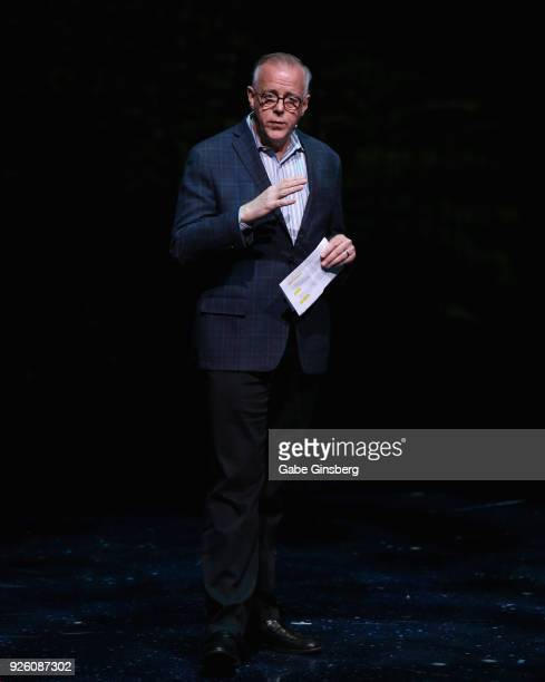 Cirque du Soleil Senior Vice President Resident Show Division Jerry Nadal speaks during a dress rehearsal for the sixth annual 'One Night for One...