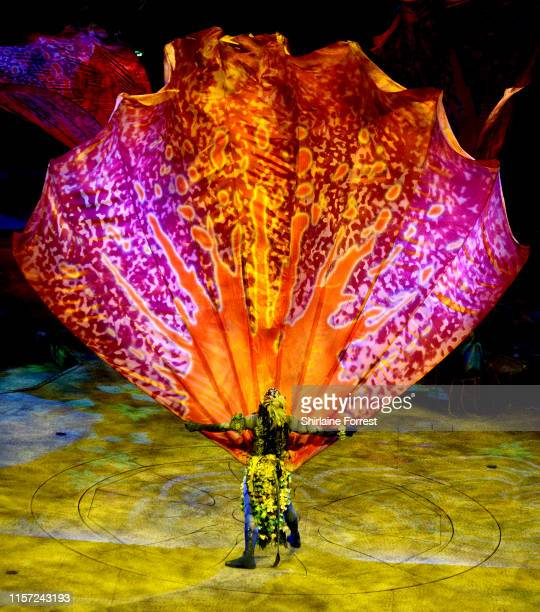 """Cirque Du Soleil's """"TORUK"""", inspired by James Cameron's """"Avatar,"""" is performed at Manchester Arena on June 20, 2019 in Manchester, England."""