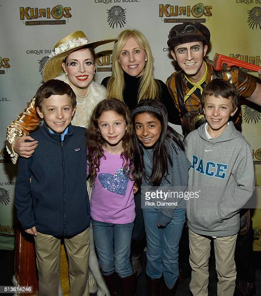 Cirque performers join Author Emily Giffin family and friends during the Atlanta Premiere Of Cirque du Soleil's KURIOS Cabinet Of Curiosities on...