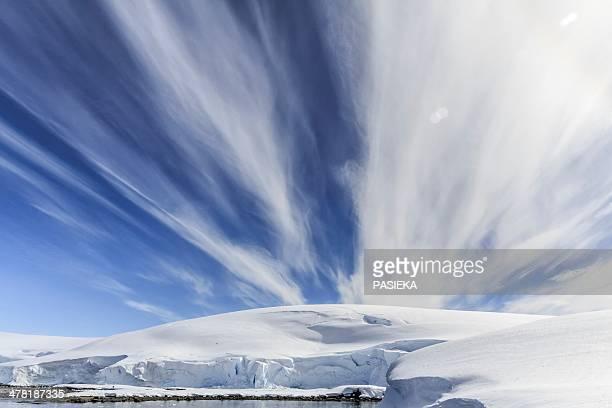 Cirrus cloud formation, Antarctica