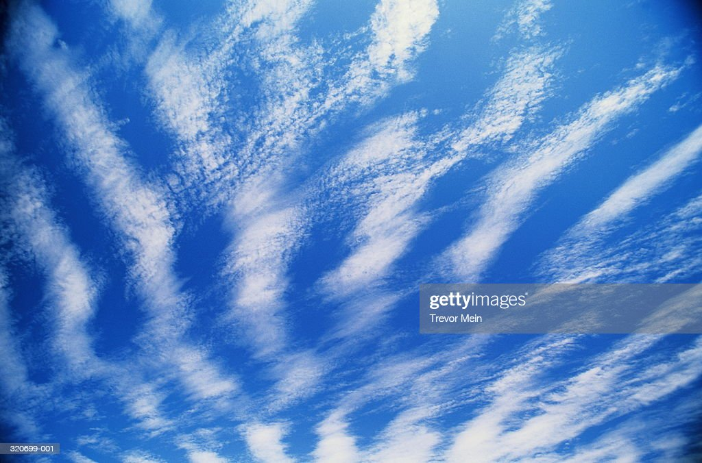 Cirrus clouds in blue sky : Stock Photo