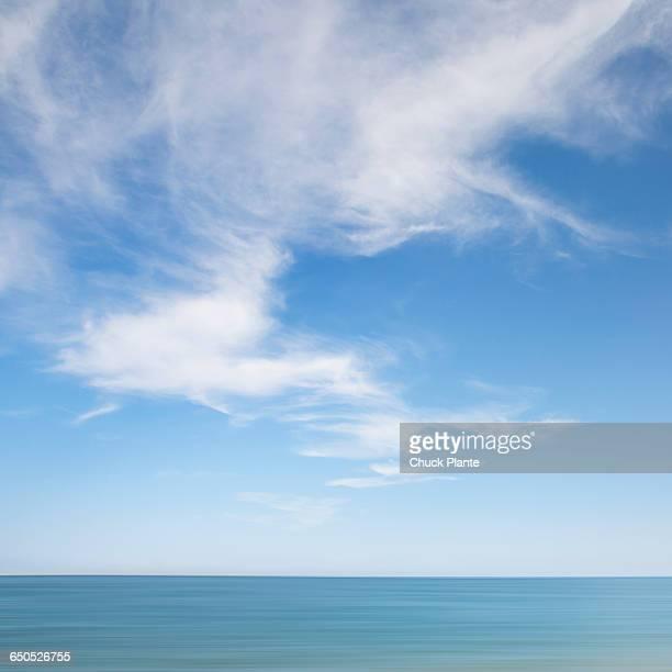 Cirrus clouds over Atlantic Ocean