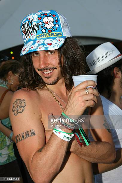 Cisco Adler during 2007 Coachella Valley Music and Arts Festival Day One Backstage at Empire Polo Field in Indio California United States