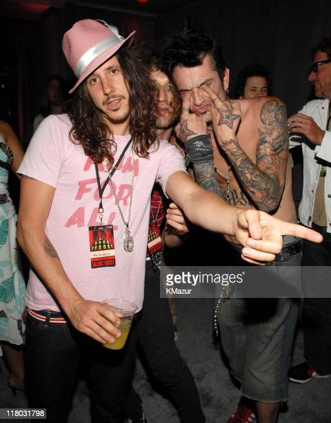 Cisco Adler of Whitestarr and Tommy Lee during 2006 VH1 Rock Honors Backstage at Mandalay Bay Hotel and Casino in Las Vegas Nevada United States