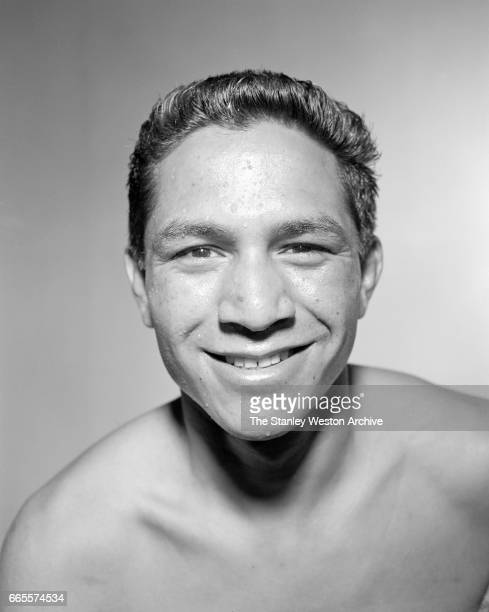 Cisco Andradre poses for a portrait at Stillman's Gym in New York New York June 25 1954