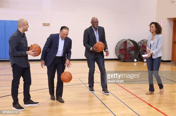 Cisco Chief Technologist Chintan Patel NBA Deputy Commissioner and Chief Operating Officer Mark Tatum NBA hall of famer Clyde Drexler and TV...