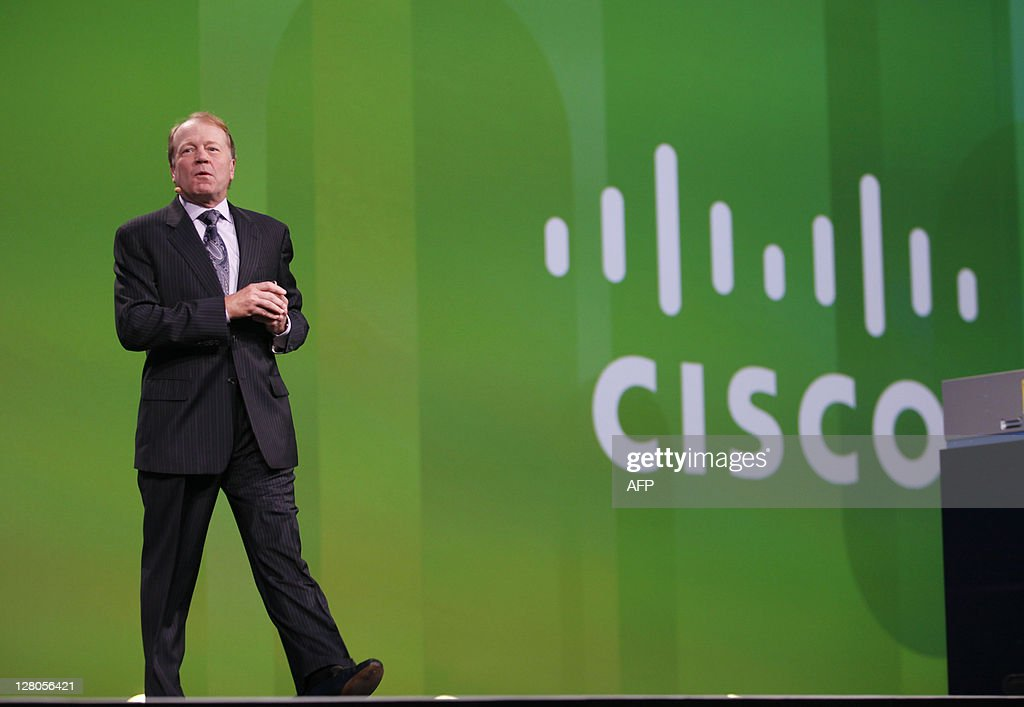 Cisco Systems CEO John Chambers delivers : News Photo