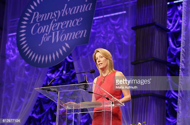 Cisco Systems director of global service provider marketing Tracy Brown speaks onstage during the Pennsylvania Conference for Women 2016 at...