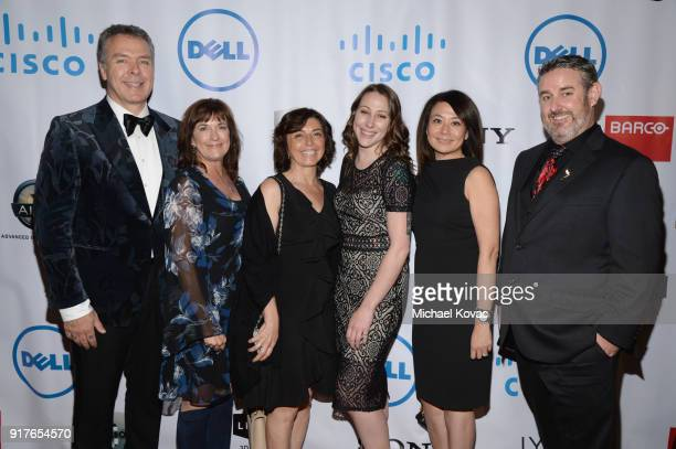 Cisco team attends the Advanced Imaging Society 2018 Lumiere Awards presented by Dell and Cisco at Steven J Ross Theatre on February 12 2018 in...