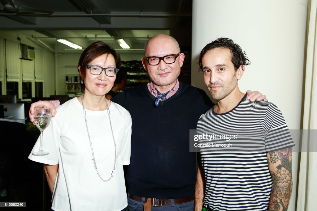 Cissy and Jarvis Wong with Isa Satori attend the Atlantica Collection by Antonio da Motta Leal for Alexander Lamont on September 13, 2017 in New York City.