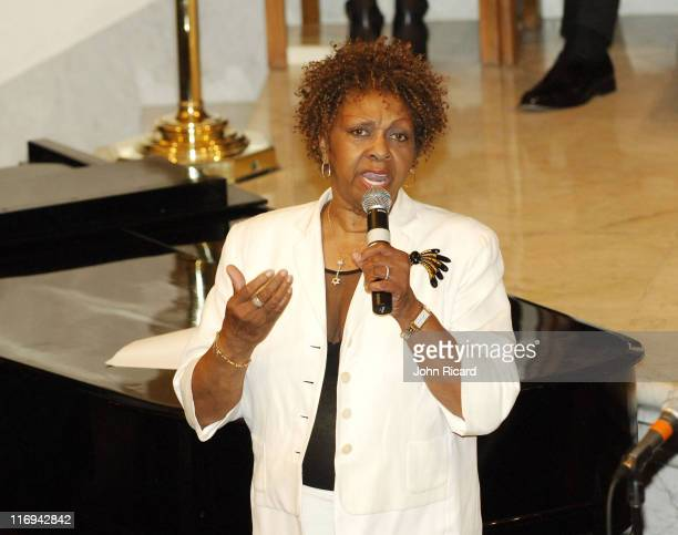 Cissy Houston during KISS FM Musical Tribute to Luther Vandross July 11 2005 at Abyssinian Baptist Church in New York City New York United States