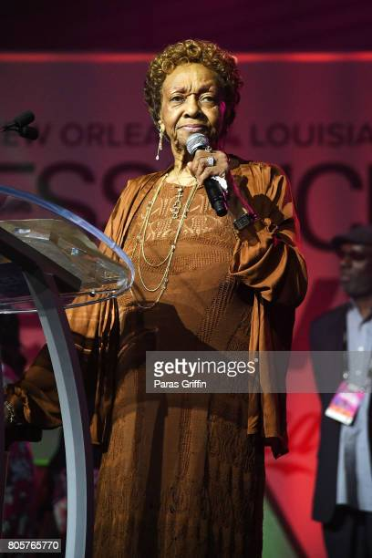 Cissy Houston speaks onstage at the 2017 ESSENCE Festival presented by CocaCola at Ernest N Morial Convention Center on July 2 2017 in New Orleans...