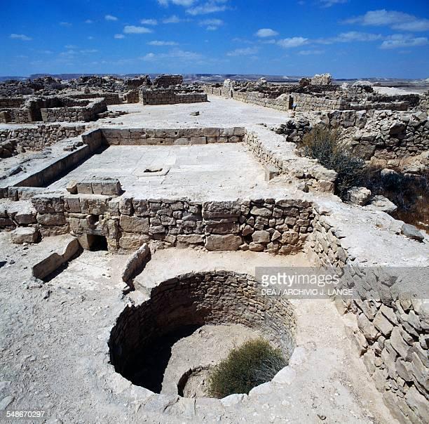 Cistern for water supply ancient Essene settlement of Khirbet Qumran 1st century BC1st century AD Israel