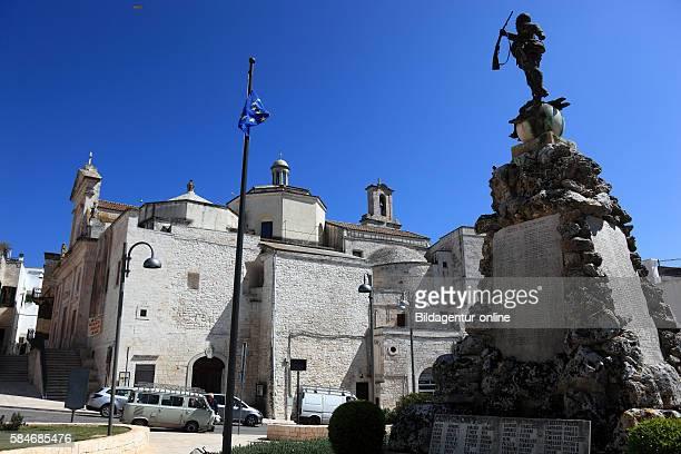 Cisternino war memorial and church Matrice San Nicola Puglia Italy