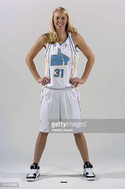 Cisti Greenwalt of the Chicago Sky poses for a portrait during WNBA Media Day on April 23 2007 at The United Center in Chicago Illinois NOTE TO USER...