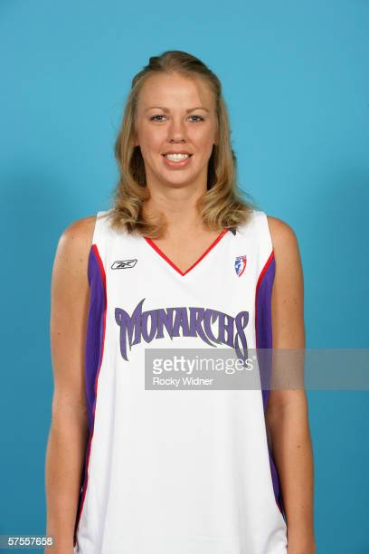 Cisti Greenwalt of the Sacramento Monarchs poses for a portrait during WNBA media day on April 24 2006 in Sacramento California NOTE TO USER User...