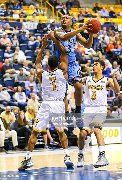 Citadel Bulldogs guard Kaelon Harris drives to the basket during the second half of the NCAA basketball game between The Citadel Bulldogs and the UT...