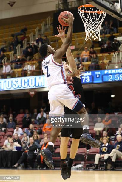 Citadel Bulldogs guard Quayson Williams goes in for a easy lay up during the basketball game between the Citadel and VMI on March 02 2018 at the US...