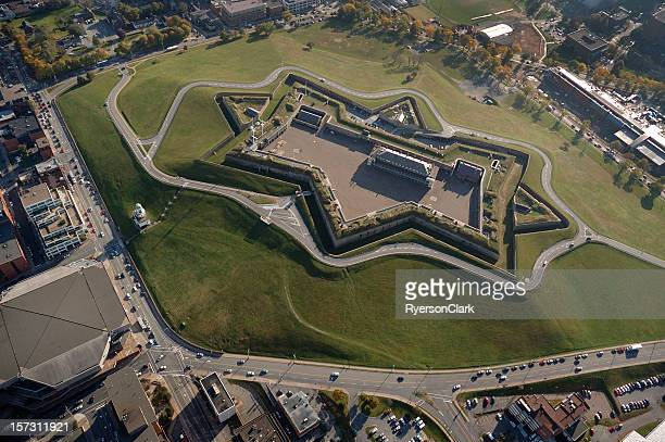 citadel hill, halifax nova scotia canada. aerial view - nova scotia stock pictures, royalty-free photos & images