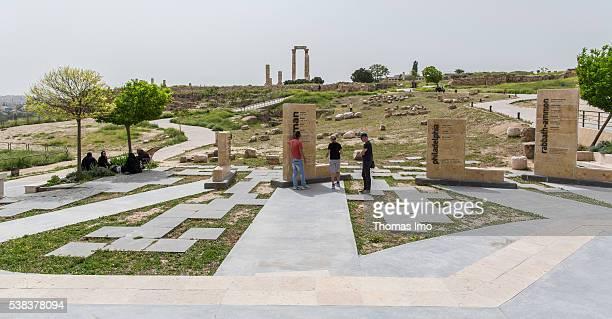 Citadel of Amman on April 08 2016 in Amman Jordan