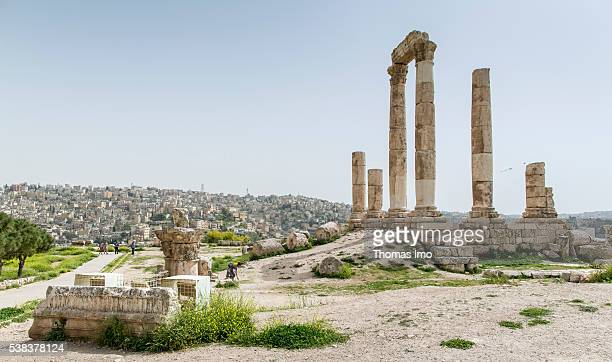 Citadel of Amman on April 08 2016 in Amman Jordan