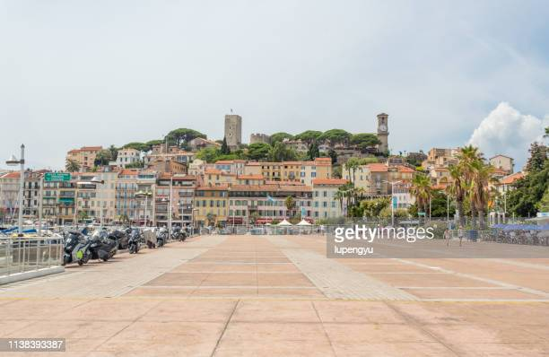 citadel of cannes from the port, provence-alpes-cote d'azur, france - cannes stock pictures, royalty-free photos & images
