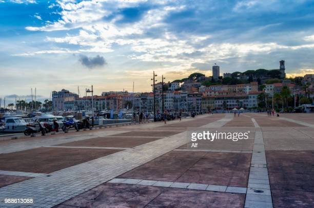 citadel of cannes from the port, provence-alpes-cote d'azur, france - cannes stock-fotos und bilder