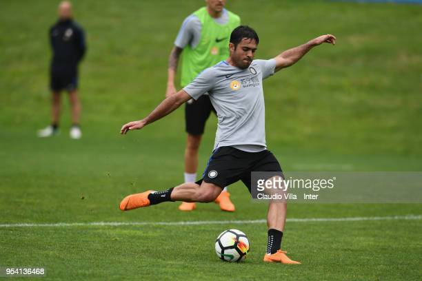 Citadin Martins Eder of FC Internazionale in action during the FC Internazionale training session at the club's training ground Suning Training...