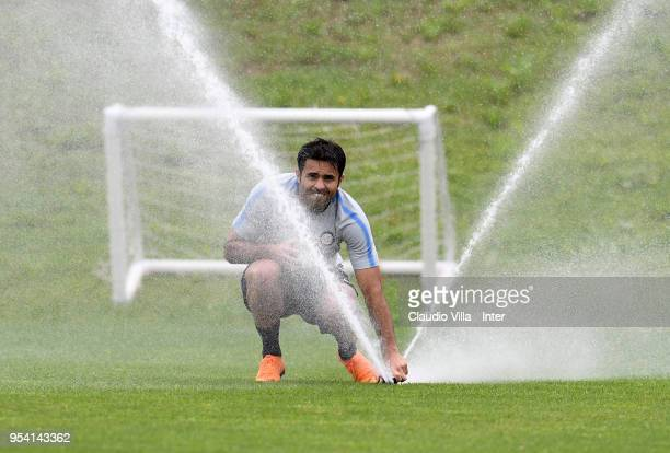 Citadin Martins Eder of FC Internazionale looks on during the FC Internazionale training session at the club's training ground Suning Training Center...