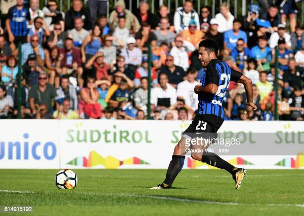Citadin Martins Eder of FC Internazionale scores the goal during the PreSeason Friendly match between FC Internazionale and Nurnberg on July 15 2017...