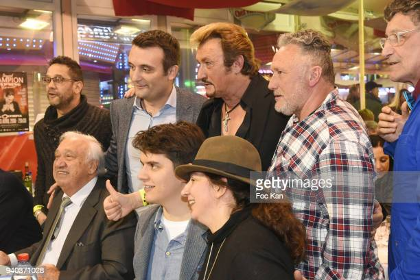 CiteStars Association President David Donnadei former Front National deputy Florian Philippot Marcel CampionÊguests and Phiippe Wintousky attend the...