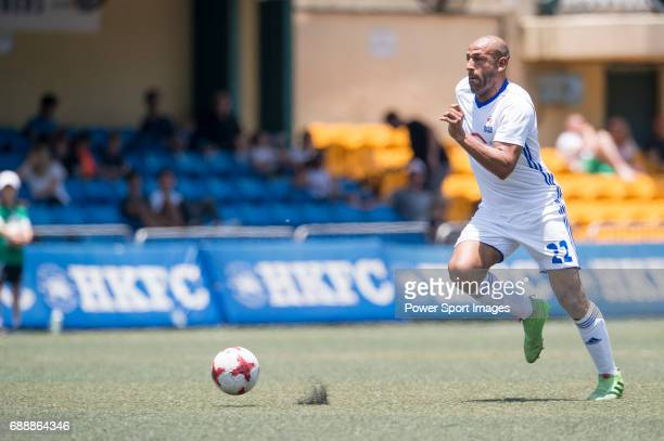 Citi All Stars' Luis Boa Morte runs the ball during their Masters Tournament match, part of the HKFC Citi Soccer Sevens 2017 on 27 May 2017 at the...