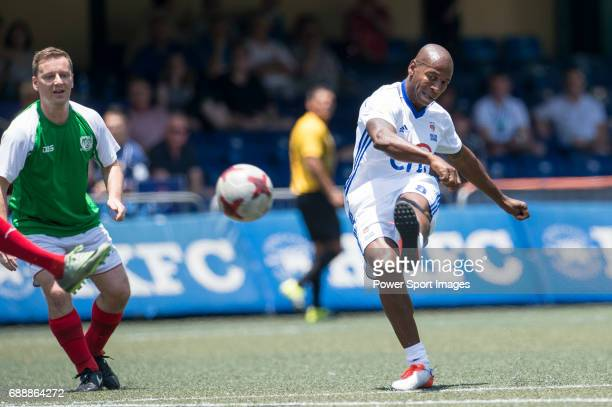 Citi All Stars's Luis Boa Morte kicking the ball during their Masters Tournament match, part of the HKFC Citi Soccer Sevens 2017 on 27 May 2017 at...