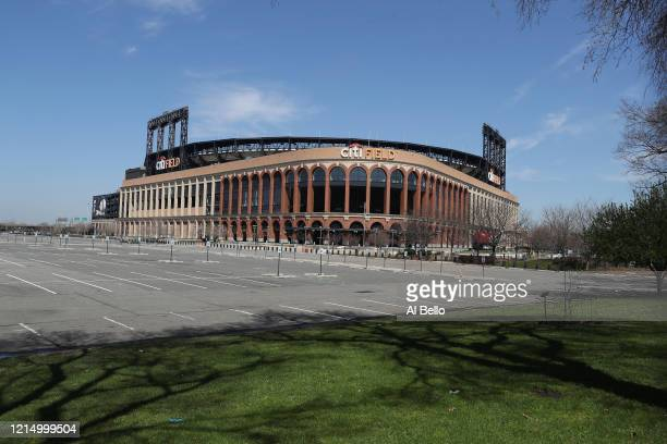 Citi Field is empty on the scheduled date for Opening Day March 26, 2020 in Flushing, New York. Major League Baseball has postponed the start of its...