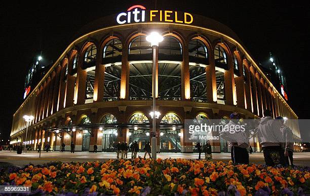 Citi Field is seen after the New York Mets lost 65 to the San Diego Padres on April 13 2009 in the Flushing neighborhood of the Queens borough of New...