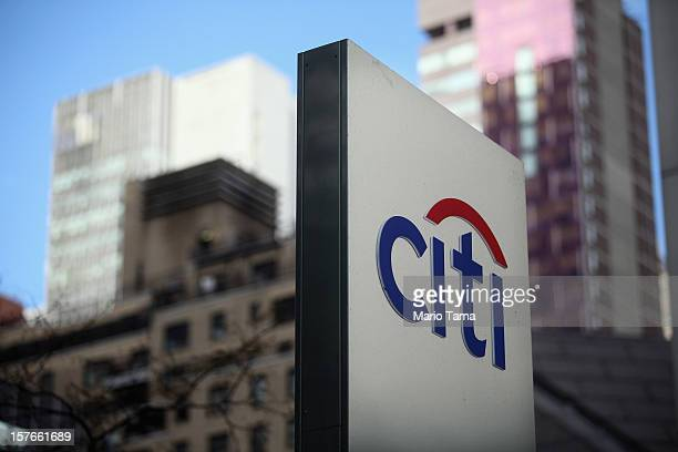 Citi' sign is displayed outside Citigroup Center near Citibank headquarters in Manhattan on December 5, 2012 in New York City. Citigroup Inc. Today...
