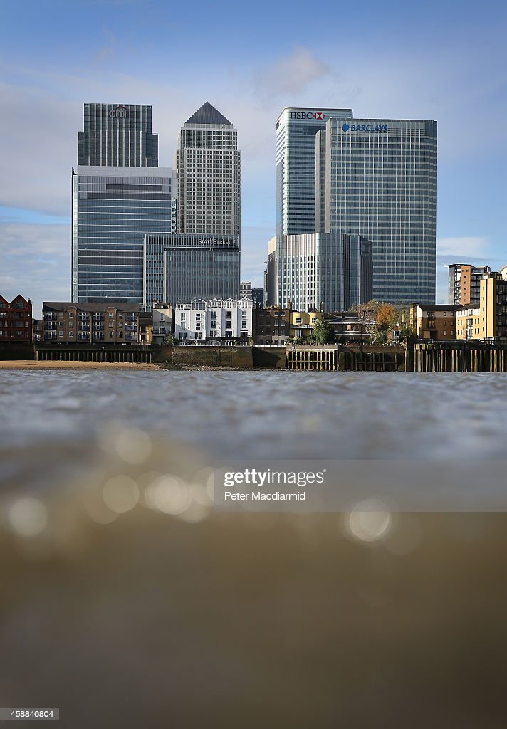 Citibank, Barclays and HSBC headquarters buildings at Canary Wharf on November 12, 2014 in London, England. Five banks have been fined £2 billion by financial regulators in the United Kingdom for manipulation of foreign exchange rates. A seperate investigation into Barclays is still ongoing.