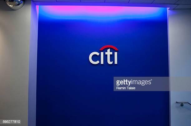 A Citibank logo inside a Citibank branch in Manhattan on Wednesday December 9 2009