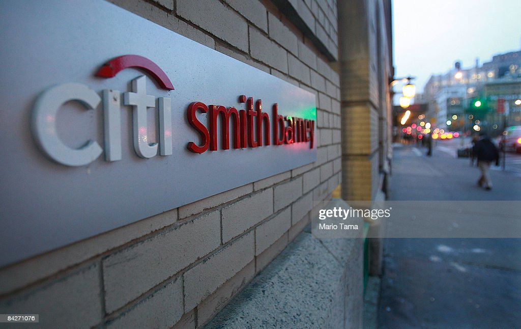 A Citibank Smith Barney bank branch is seen January 13, 2009