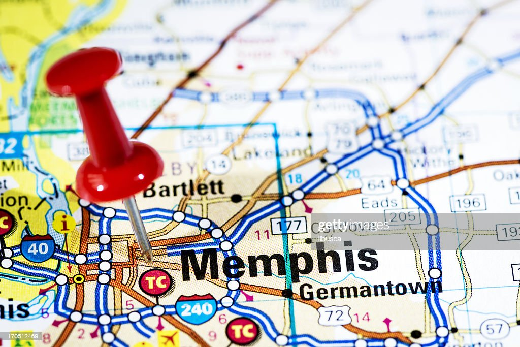 Us Cities On Map Series Memphis Tennessee Stock Photo Getty Images